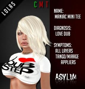 [AsYLUM] Maniac Mini Tee - Love Dub AD