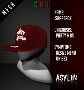 [AsYLUM] MESH Snapback - Party & BS AD